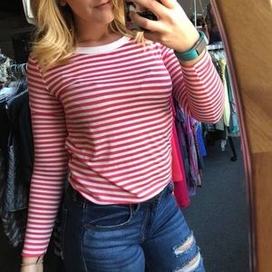 Tops - Striped Crop Boutique Top